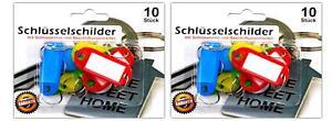 Luxus-accessoires Clever 20er Set Schlüsselschilder Mit Beschriftungsstreifen Und Schlüsselring Starker Widerstand Gegen Hitze Und Starkes Tragen Schlüsselanhänger