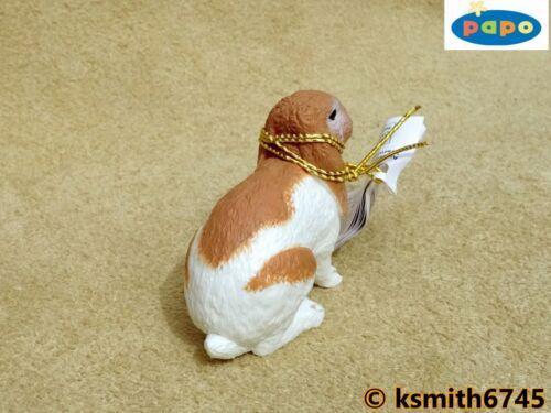 NOUVEAU * Papo Lop eared lapin solide Jouet en plastique Pet Animal Rongeur mammifère