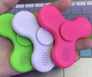 LED Bluetooth Speaker Hand Spinner Fidget Finger Gyro ds EDC ADHD Autism Toys