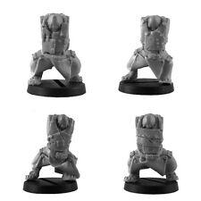 Ork War2 5 Körper mit langen Mänteln Plattenrüstung Ork Bitz Kromlech KRCB111
