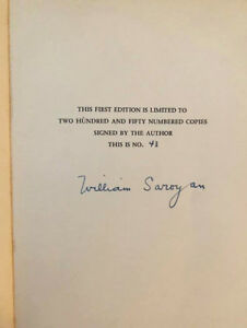 A-Special-Announcement-William-Saroyan-Signed-Limited-Edition-Numbered-HC-Book