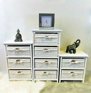 Détails sur 2 3 4 tiroir cadre en bois osier panier de rangement chambre  salle de bain Organisateur- afficher le titre d\'origine