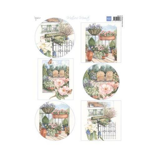 Marianne Design A4 cardtoppers Hoja-Mattie /'s Hermoso Jardín MB0175