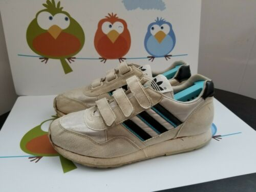 Vintage Adidas Velcro Sneakers Shoes UK 6