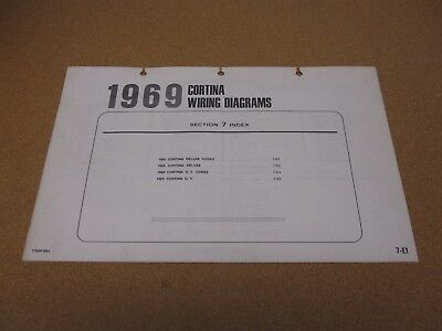 1959 ford f100 wiring diagram 1969 ford cortina deluxe gt wiring diagram sheet service manual ebay  1969 ford cortina deluxe gt wiring