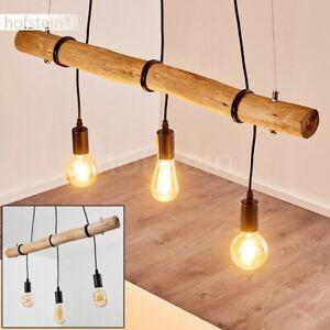 Holz Ess Wohn Schlaf Zimmer Raum Leuchten 3-flammig Pendel Hänge Lampen schwarz