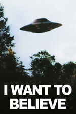 I Want To Believe The X Files TV Series Silk Poster Print 13X20 24X36inch UFO