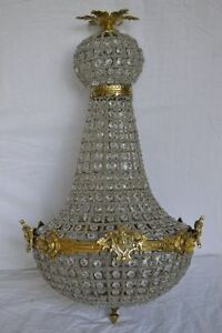 Lustre-montgolfiere-plafonnier-baroque-65-cm-bronze-et-pampilles-verre