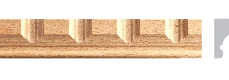 1-1 4 W x 4FT, 10pc Total 40ft. Beech Wood Dentil Molding, Trim Moulding, MB813