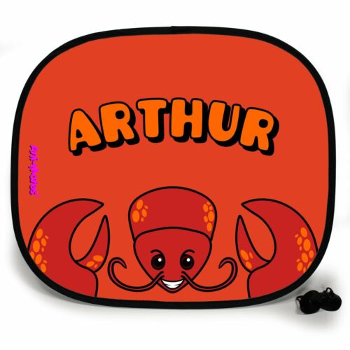 LOBSTER ANIMAL PERSONALISED CAR SUN SHADE Window baby Protection birthday gift