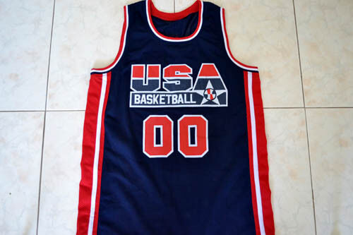 CUSTOM NAME AND NUMBER TEAM USA BASKETBALL JERSEY NAVY BLUE ANY SIZE