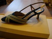 Jacques Vert Banded Detail Shoes -blue Size 4 -new