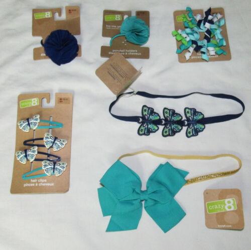 Crazy 8 Elephant Island//Butterfly Tropics hair accessories UPICK headband clips