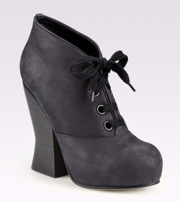 ACNE chaussures SELENA LACE UP démarrageIES PLATFORM HEELS 40  590 noir ANKLE bottes