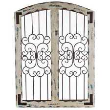 Metal and Wood Wall Decor  Shabby Chic Decor Rustic Country Home Decor