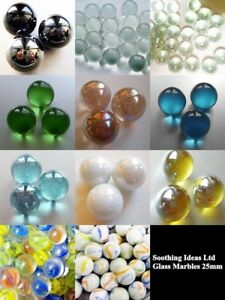 Glass-Marbles-25mm-Home-Garden-Wedding-Vases-Aquarium-5-Colours-MULTI-BUY-SALE