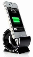 Sinjimoru Black Aluminium Sync Stand Dock Holder Cradle for Apple iPhone 6