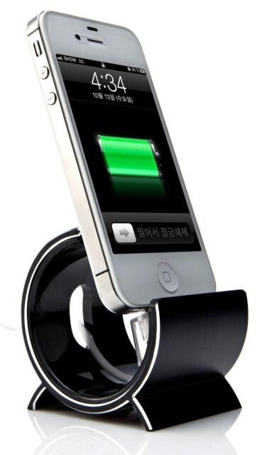 Sinjimoru Black Aluminium Sync Stand Dock Holder Cradle for Apple iPhone 6