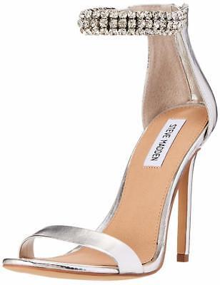 27605388f3d Steve Madden Women's Rando Dress Silver Stiletto Heels Shoes Size 6.5 M |  eBay