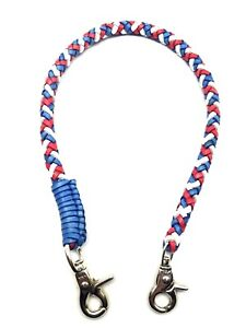Biker-chain-braided-leather-Heavy-Duty-Trucker-style-Chain-wallets-made-in-USA