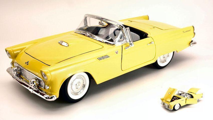 Ford Thunderbird Convertible Convertible Convertible Hard Top 1955 Yellow 1:18 Model LUCKY DIE CAST   D'arrivée Nouvelle Arrivée  829d97