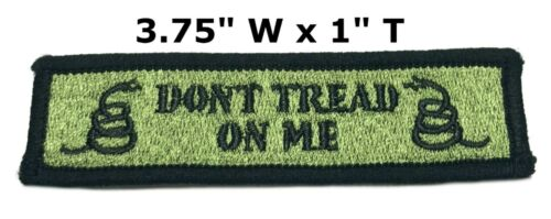 DON/'T TREAD ON ME GADSDEN FLAG iron-on PATCH AMERICAN REVOLUTION embroidered NEW