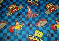 Personalize Sponge Bob Patrick Race Track Checkered Lap Throw Blanket 42x42