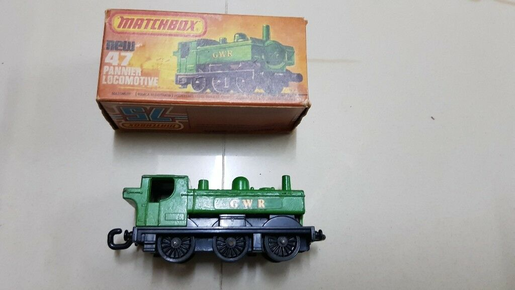 Old Vintage Match Box 47 No. Pannier Locomotive Toy MIB Rare from England 1978