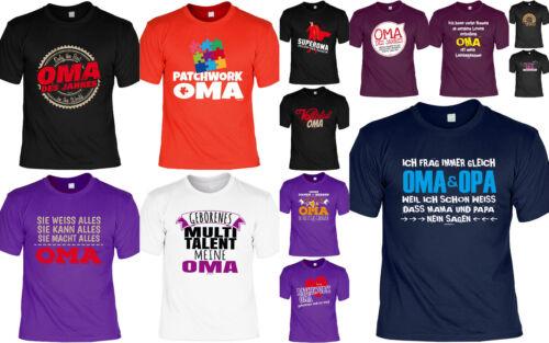 T-Shirt Oma Geschenk Geburtstag lustiges Sprüche Großmutter Muttertag Patchwork