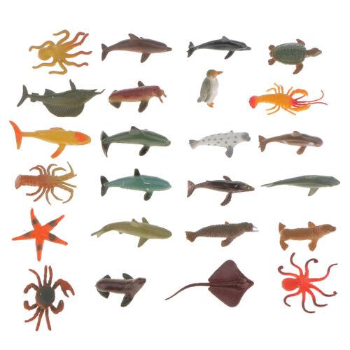 Wild Sea Ocean Animals Figure Model Toy Kids Educational Preschool 24Pcs