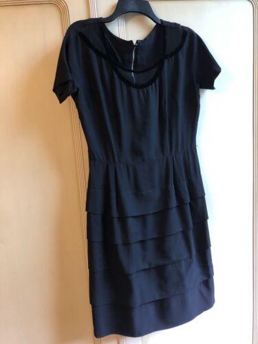 Vintage 1940s Black Rayon Cocktail Pencil Dress
