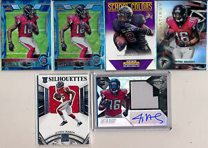ATLANTA-FALCONS-RC-Lot-12pc-JUSTIN-HARDY-amp-TEVIN-COLEMAN-Patch-AUTO-RC-Ref