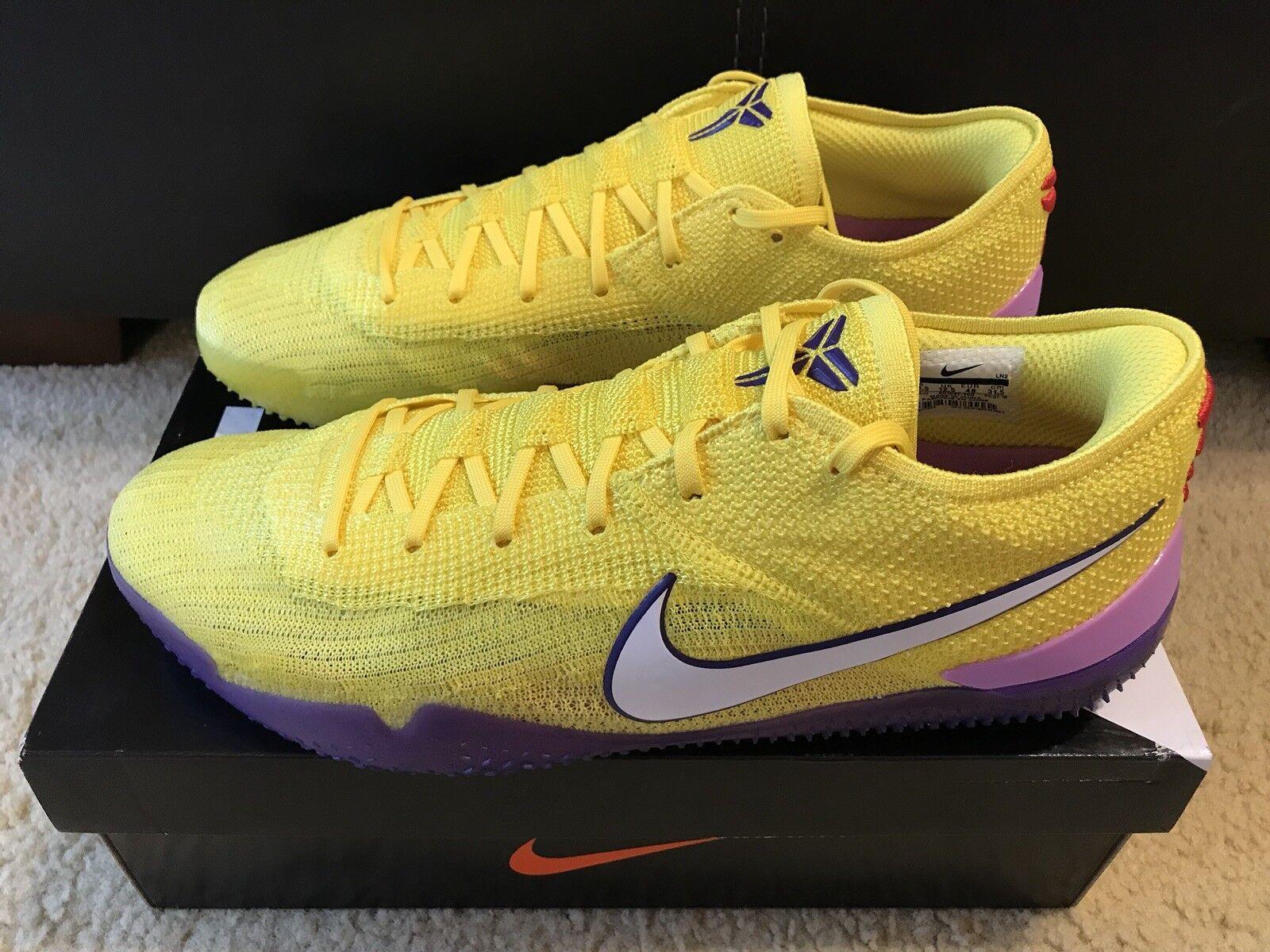 meet df951 0e019 Nike Nike Nike Kobe AD NXT 360 MAMBA LAKERS Men s sz 13.5 Yellow Strike  White AQ1087