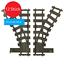 Indexbild 6 - 4 / 12 Stk. Weichen Gleise Eisenbahn Zug (kompatibel zu Lego 60198,60197,60205)