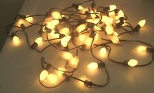7W C7 Christmas Lights in White Set of 50 Bulbs UL Listed