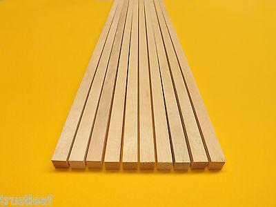 10 Pack of 60cm Light Hardwood For Modelling - Square Section 6,8,10 or 12mm