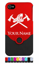 Personalized iPhone 4 4G 4S Case/Cover - FIREFIGHTER, FIREMAN, FIRE DEPARTMENT