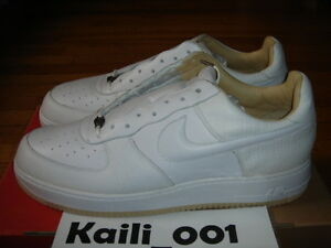 Details about Nike Air Force 1 Lux Size 12 2004 White Low ANACONDA Crocodile Supreme B