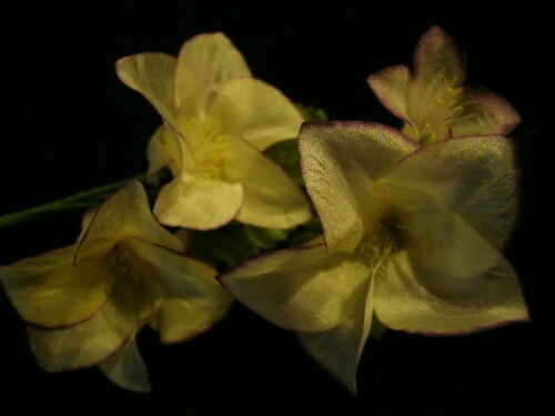 """Hair Y218 Vintage Millinery Flower Pale Yellow Silk 1 3//4/"""" for Hat Wedding"""