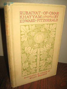 RUBAIYAT-OMAR-KHAYYAM-Edward-Fitzgerald-WILLY-POGANY-Poetry-CLASSIC-Literature