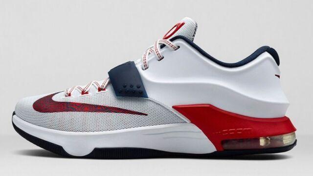 cheap for discount e8ffe 91d73 Nike KD 7 VII Olympic USA Size 12. 653996-146 Jordan Kobe