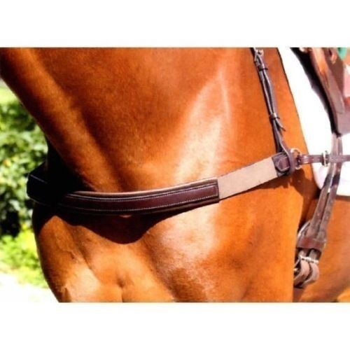Nunn Finer Breastcollar wElastic Ends  Havana Marroneee  Cob or Horse