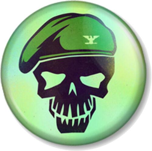 "Suicide Squad Rick Flag Skull 1/"" 25mm Pin Button Badge DC Comics Antihero Movie"