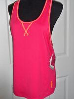 Reebok Women's M Stay Dry Aerobics Pink Fitted Tank Top