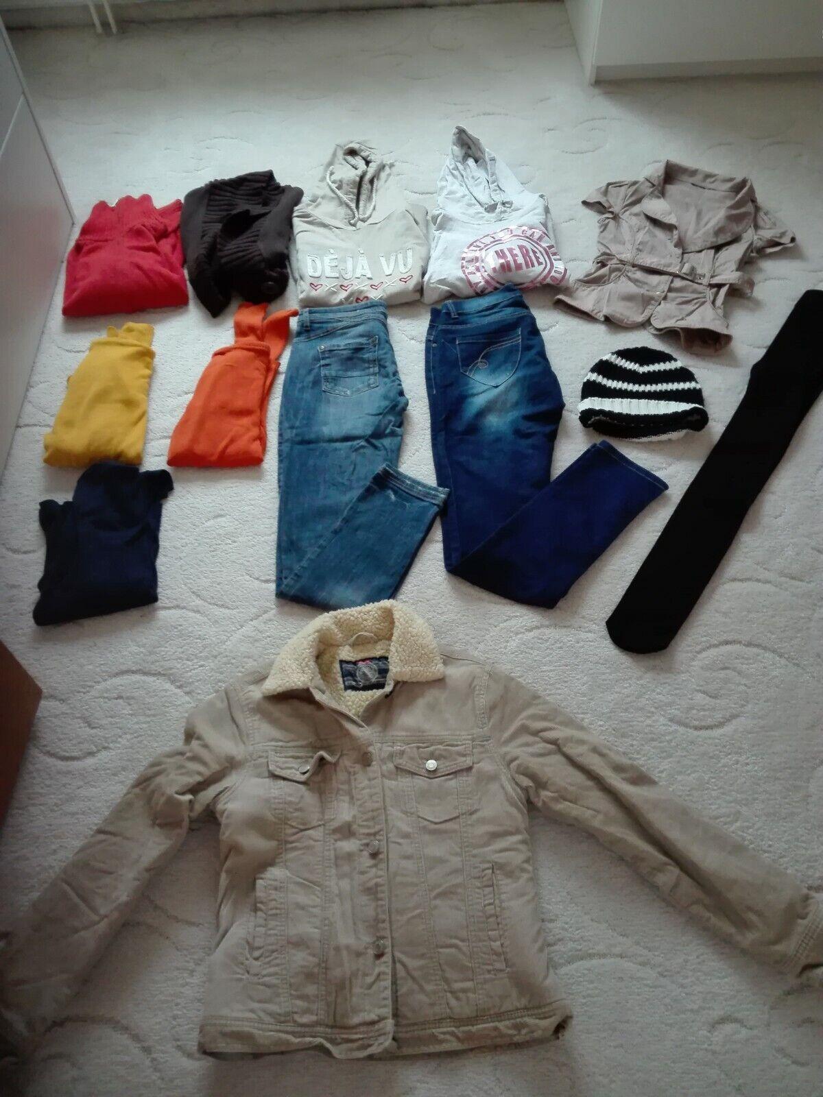 Bekleidungspaket für Damen (Jeans,Jacke,Rollis,Hoodies ) Gr.36, 13 Teile