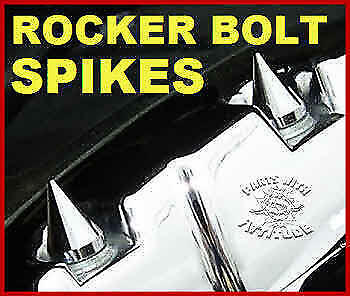 88, 96, 103, 110 113 ENGINES 4 CHROME METAL SPIKE HARLEY ROCKER BOX BOLT CAPS
