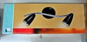 Foco-RICCIO-90359-Cromo-pulido-noir-foco-Lampara-pared-Orientable-New