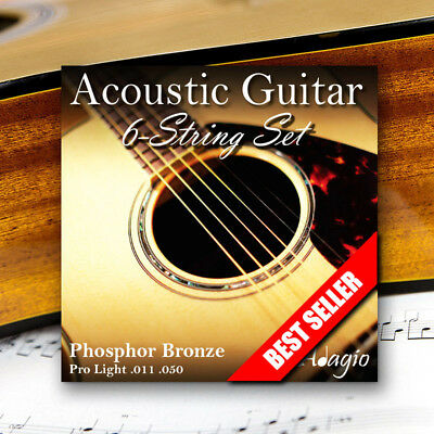 adagio pro acoustic guitar strings gauge 11 50 ebay. Black Bedroom Furniture Sets. Home Design Ideas