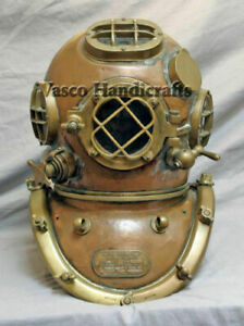 "Vintage Diving Helmet Deep Sea Mark V US Navy Marine Scuba Divers Helmet 18/"""