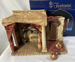 "RARE! Fontanini Nativity ~ JEWELRY / WEAVING SHOP 55564 ~ For 5"" Nativity IN BOX"